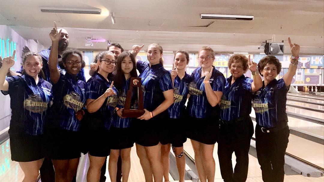 Girls Bowling Wins Third District Championship!