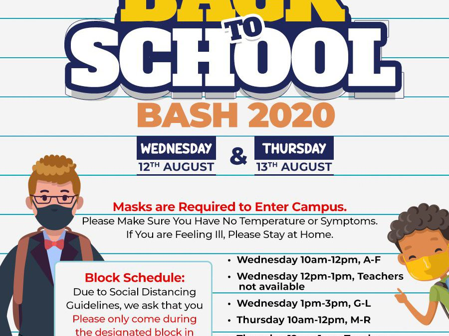 Back to School Bash 2020-2021