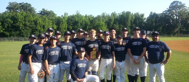 Cambridge Christian: 2A District Baseball Champs