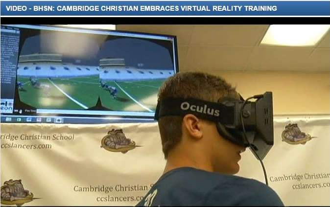 Cambridge Christian is taking football to the virtual level